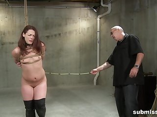 Full appetence for a slim redhead in scenes of full obedience