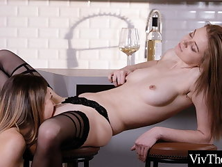 Hot lesbians fuck each every second in sexy stockings and pantyhose
