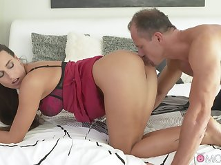 Unaffected soul hottie Mea Melone makes her lover cum fast while riding