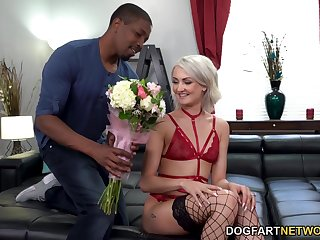 Three renowned cocks attack all holes of naughty blond babe Zoe Sparx