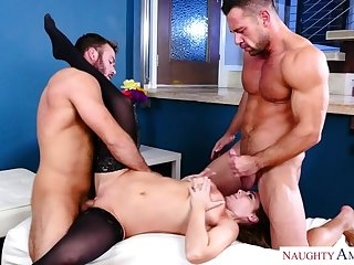 Natasha Careful fucking in the living room with will not hear of blue of vision