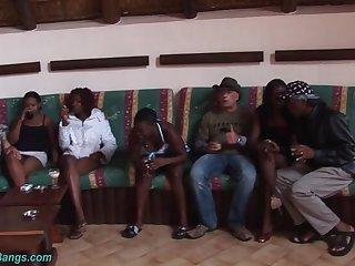 African weekend Gangbang