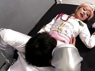 Enticing flat chested Japanese youthful whore Haruki Sato brings man to ejaculation