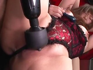 Slutty mom with fat clit and vibrator