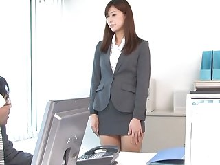 Quickie fucking in the office with hot ass secretary Aya Kisaki