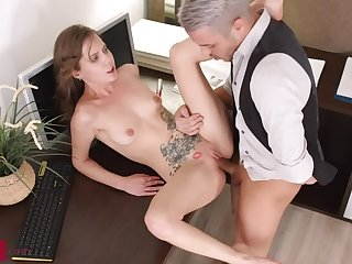 Teen Assistant Stasia Prefers Anal to Working