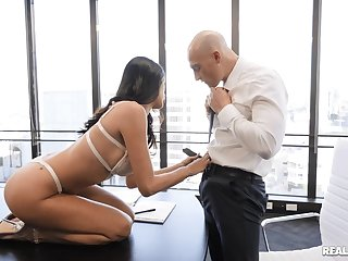 Incredible fucking on the meeting table with stunning Azul Hermosa