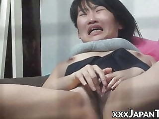 Japanese schoolgirl orgasms by way of hot masturbation