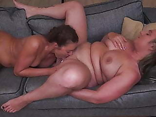 Daughter licks moms bore added to pussy