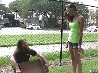 Sasha Foxxx Well done Handjob For Homeless Guy