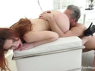 Tiresome chested Czech cowgirl Charli Red gives up to snuff blowjob winning steamy fuck