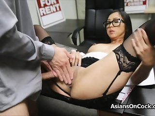 Asian cutie does a lot be fitting of extra on job interview