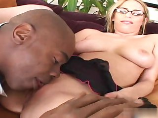 Hot Babe Blond Hair Laddie Lain Oi Gets Be transferred to Big Stygian Cock - school