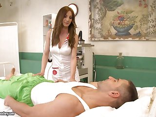 Posh feel interest in uniform and stockings Alice Romain gives a blowjob and gets her anus fucked