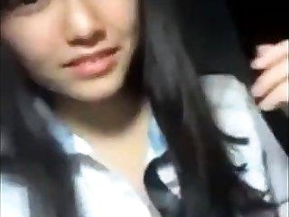 Attractive Korean girl's bungling self video