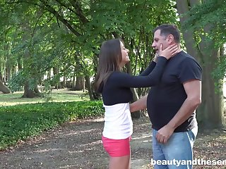 Outdoor fucking down cum anent frowardness fulfilling for dear Gabriella