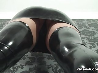 Pixie in Coloured Dress and Stockings - LatexHeavenVideo