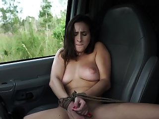 French maid bondage and huge dildo domination This new