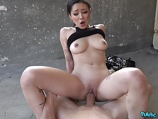 Asian stunner sure knows proper riding XXX skills