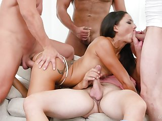 Wife takes a extent of long relating to each of her tight holes