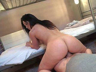 Sexual seduction above best friend's procreate huge dick