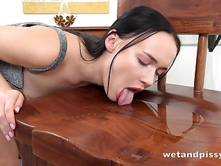 Winning support c substance a black dildo naughty raven haired bitch Sasha Sparrow prefers to piss