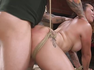 Obese ass MILF gets spanked before everlasting banging