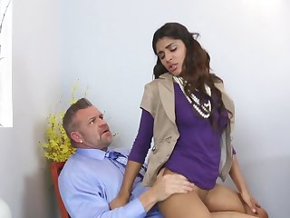 Hot MILF and her daughter are being fucked together